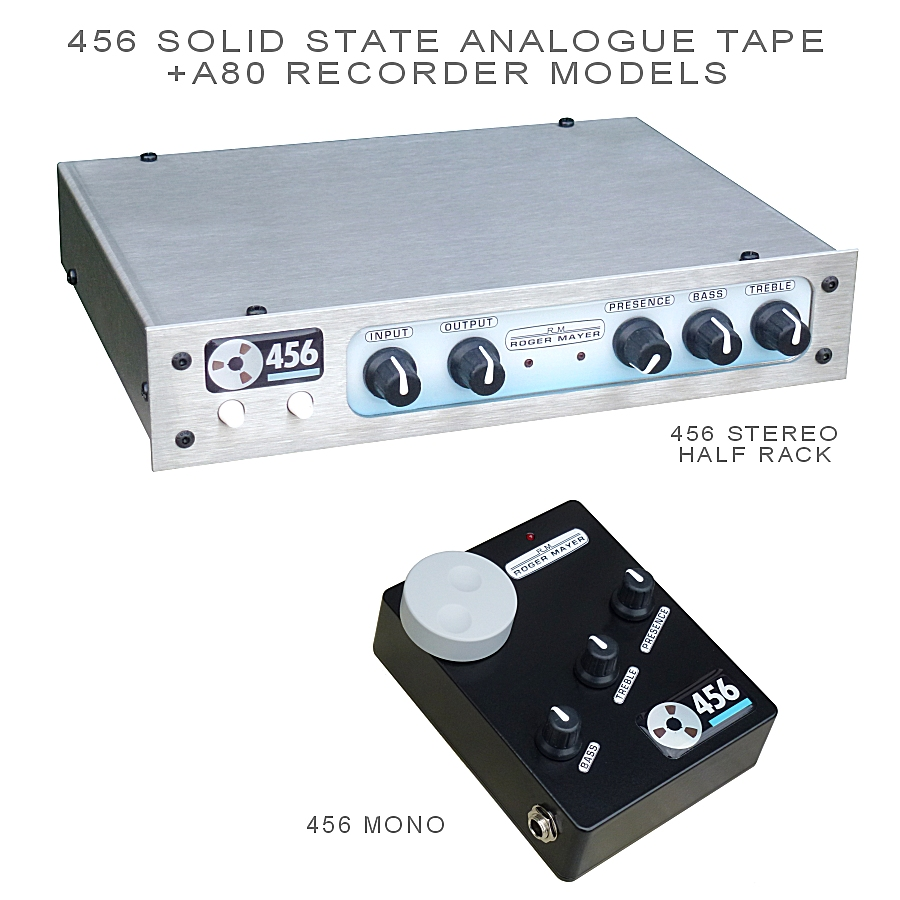 456 SOLID STATE ANALOGUE TAPE + A80 RECORDER MODELS